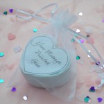 unusual wedding favours heart bath bombs