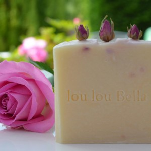 Natural cold processed soap with rose geranium