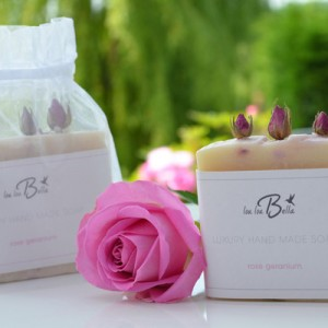rosebud natural soap